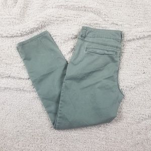 ANA Green Skinny Ankle Pants Size 6/28